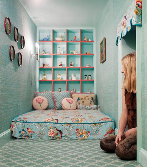 Geheimes Kinderzimmer - kreative Idee von den Märchen inspiriert - kinderzimmer blau mdchen