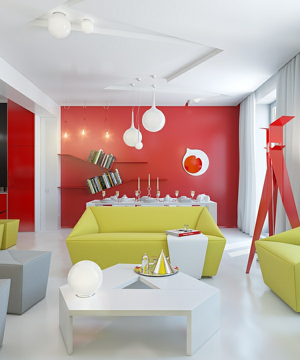 Wohnzimmer Grun Rot - Design