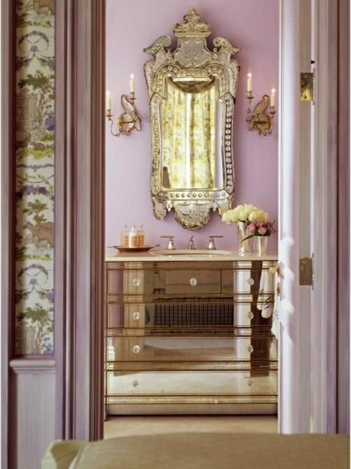 Badezimmer Spiegel Rund Gold ~ Preshcool U003d Verschiedene   Badezimmer  Gold
