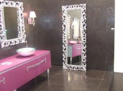 Badezimmer Möbel und Zubehör - 55 feine Badezimmer Designs - badezimmer pink
