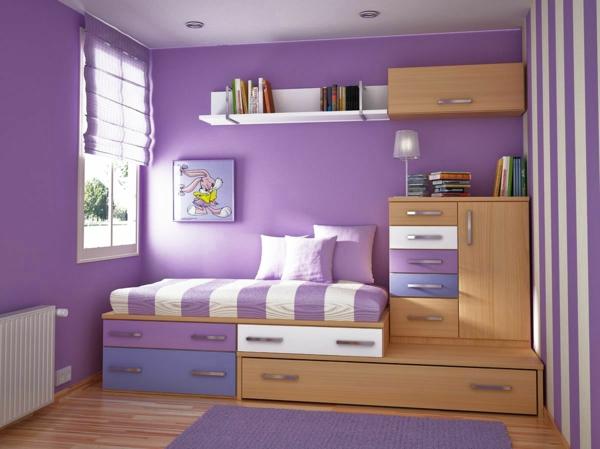 Die Wände zu Hause streichen - Ideen für harmonische Farbkombination - kinderzimmer streichen madchen