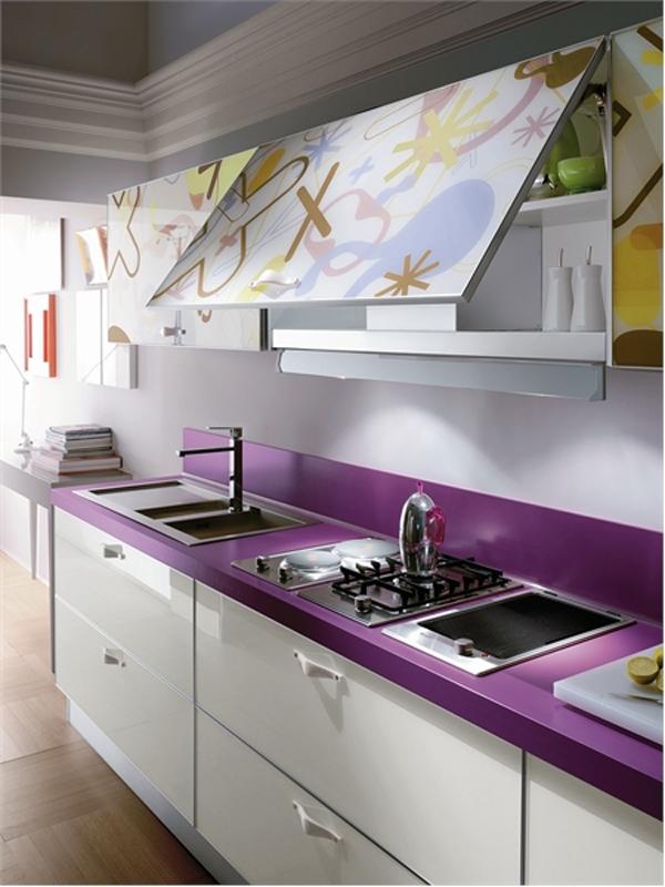 arbeitsplatten-aus-glas-extravagant-32. moderne-kchengestaltung ... - Glas Arbeitsplatte Küche