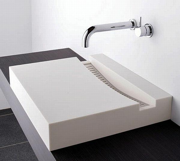 Beautiful Waschbecken Design Flugelform Ideas - House Design Ideas - bad design geometrische asthetik giano serie rexa design