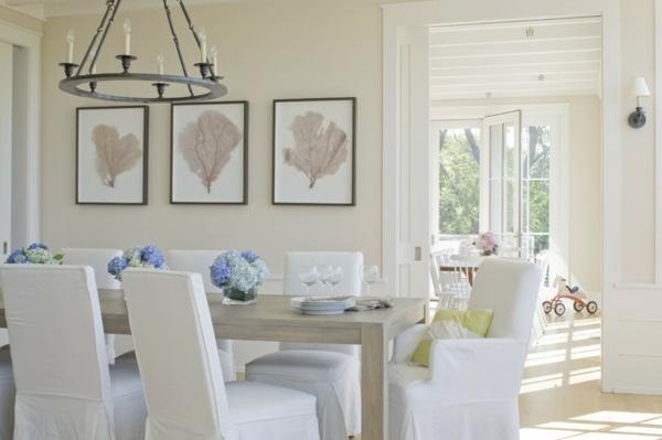 Esszimmer Dekoration im Sommer - 10 wunderschöne Tipps und Ratschläge - esszimmer weiss