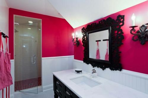... In Farbe Gebadet Elegante Ideen Für Rosa Badezimmer Designs   Badezimmer  Pink ...