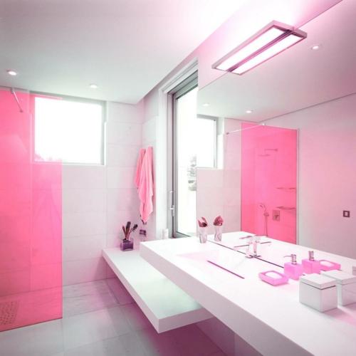 In Farbe Gebadet Elegante Ideen Für Rosa Badezimmer Designs   Badezimmer  Rosa