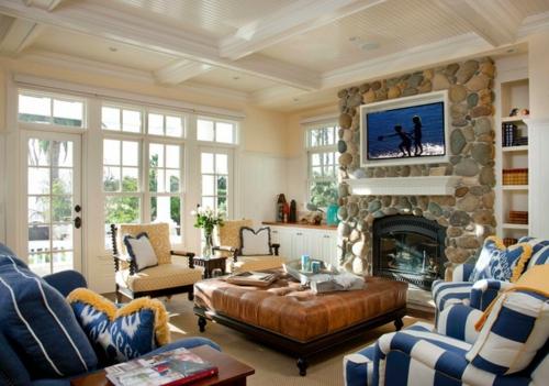 Gemütliches Wohnzimmer einrichten  große Wohnflächen gestalten - groses wohnzimmer einrichten
