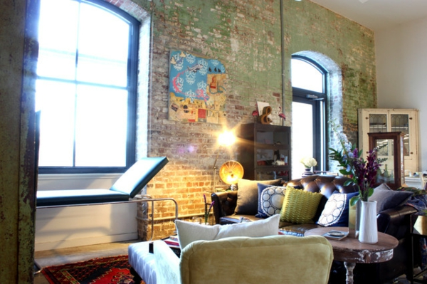 Gemütlich Futuristisches Interieur Loft Wohnung Bilder ...