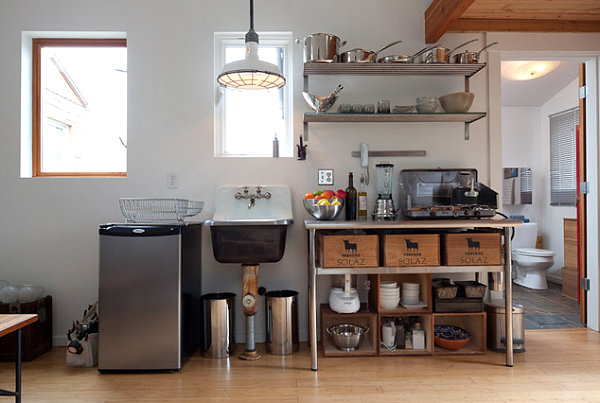 Coole Aufbewahrung Ideen für Ihre Küche - Platz sparen mit Stil - offene küche ideen