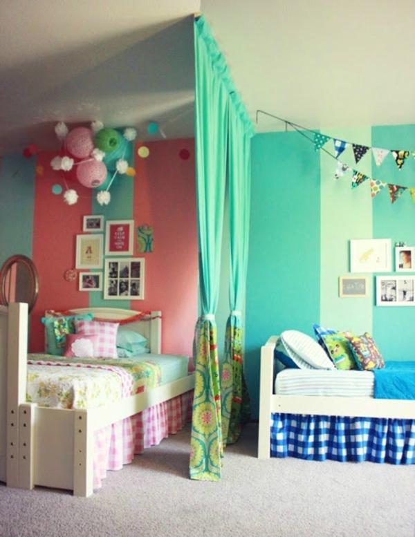 Kinderzimmer komplett gestalten - Junge und Mädchen teilen ein Zimmer - kinderzimmer gestalten junge