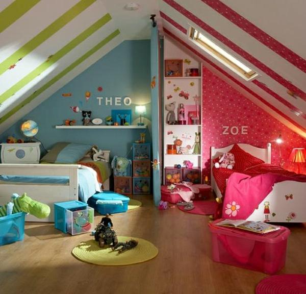 Kinderzimmer komplett gestalten - Junge und Mädchen teilen ein Zimmer - babyzimmer madchen und junge