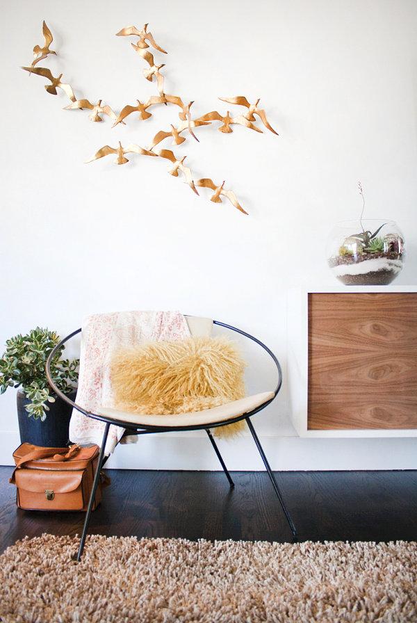 wohnzimmer vorwand mit deko nische | home interior außen
