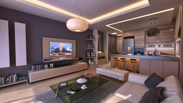Luxus Wohnzimmer einrichten - 70 moderne Einrichtungsideen - inneneinrichtungsideen wohnzimmer kuche