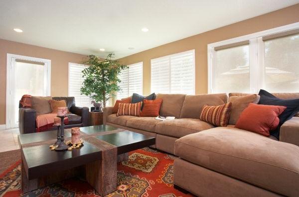 Luxus Wohnzimmer einrichten - 70 moderne Einrichtungsideen - wohnzimmer einrichten brauntone