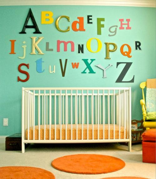 Babyzimmer komplett gestalten - 25 kreative und bunte Ideen - kinderzimmer gestalten wand