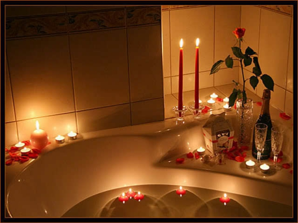 Romantisches Schlafzimmer Mit Kerzen