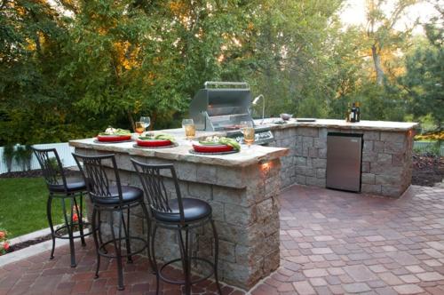 Wie Sie alleine eine Outdoor Küche im Außenbereich errichten können - kuche im garten balkon grill