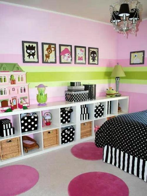 Kinderzimmer Wandgestaltung Mädchen Streifen gerakacehinfo - kinderzimmer streichen madchen