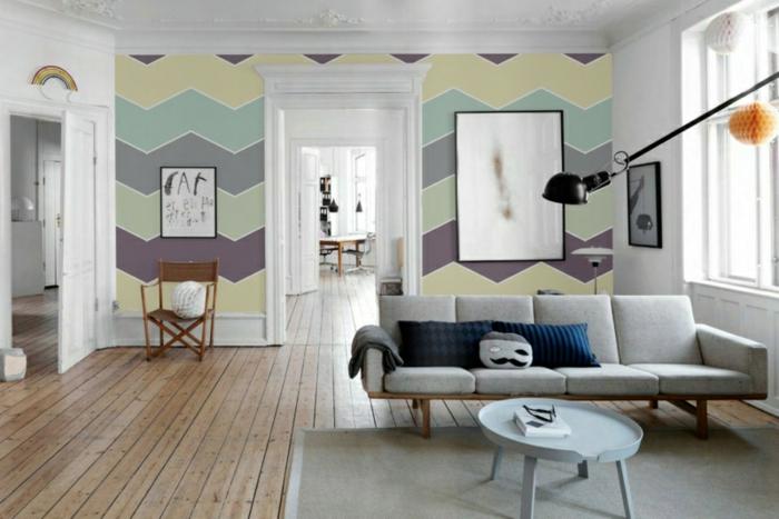 ▷ 1001+ Wandfarben Ideen für eine dramatische Wohnzimmer-Gestaltung - muster wohnzimmer