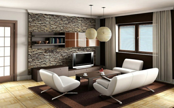 Wohnzimmer Mit Steinwand u2013 fairyhouseinfo - steinwand wohnzimmer fernseher