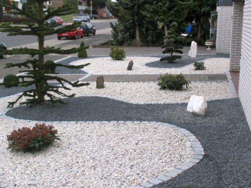 Schlichter Steingartenjpg (889×720) Rock,Stone Gardens \ Yards - gartengestaltungsideen mit kies