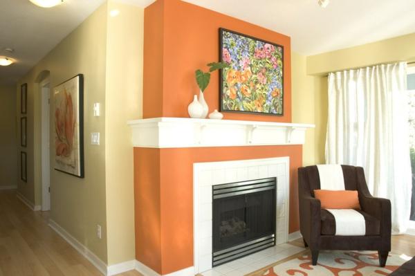Wohnzimmer Orange Streichen | ocaccept.com
