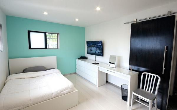 Das Schlafzimmer minimalistisch einrichten - 50 Schlafzimmer Ideen - schlafzimmer in turkis