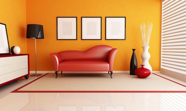 wandgestaltung wohnzimmer orange | node2011-hausdesign.paasprovider.com