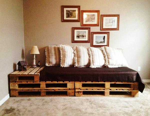 Sofa Aus Paletten Integrieren Diy Mobel Sind Praktisch