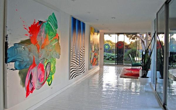 Kreative Wandgestaltung mit abstrakter Kunst - kreative wandgestaltung