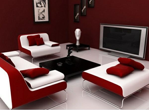 Stunning Wohnzimmer Rot Weis Pictures - Home Design Ideas ...