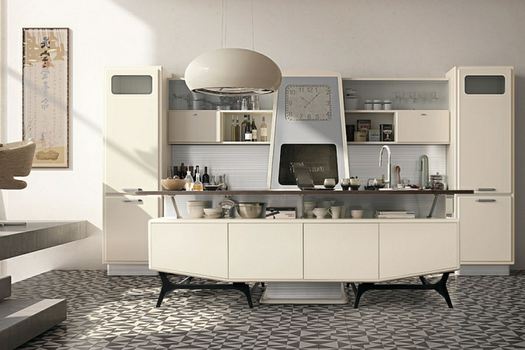 Designer Edelstahl Kuche Retro Stil - Design