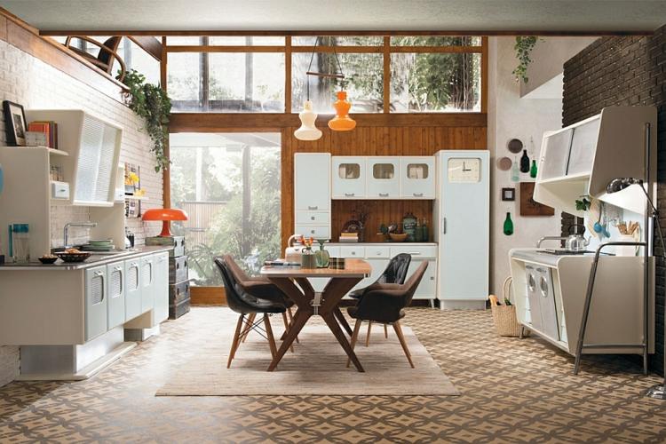 Küche Retro Stil ~ Logisting U003d Varie Forme Di Mobili Idea E   Designer  Edelstahl Kuche