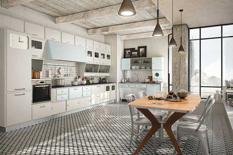 Vintage Kuche Holz Stahl Design Bilder Villawebinfo Moderne Kuche  Wellenformen