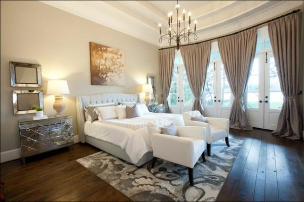 Schlafzimmergardinen und Vorhänge - den Privatraum stilvoll gestalten - schlafzimmer gardinen ideen
