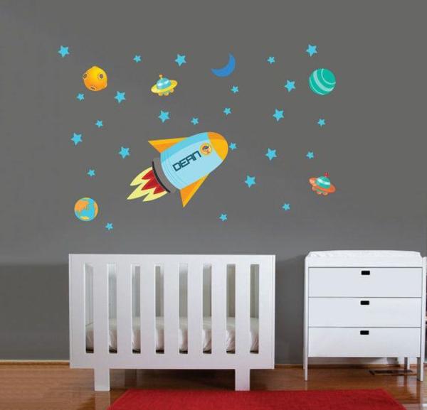 Babyzimmer gestalten - 50 coole Babyzimmer Bilder - kinderzimmer gestalten wand