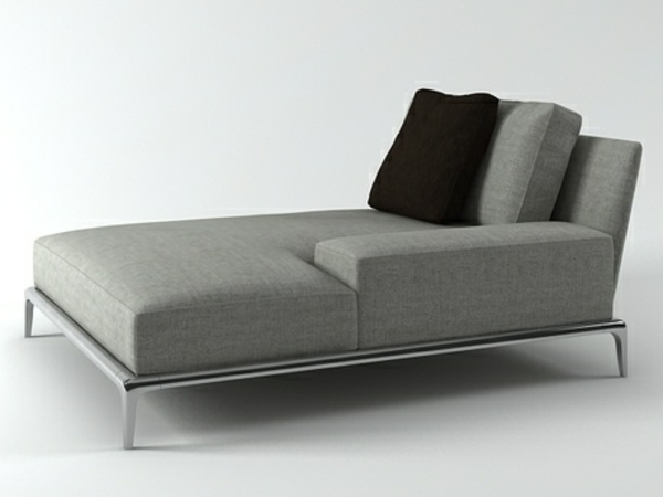 Sofa Zweisitzer Chaiselongue Sofa - Komfortable Lounge Möbel