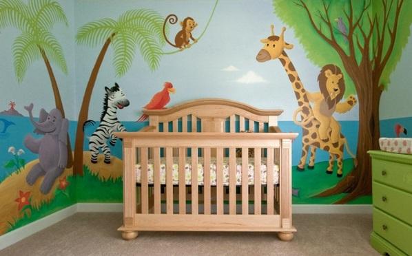 Dschungel Kindertapete - Kinderzimmer gestalten - kinderzimmer gestalten wand