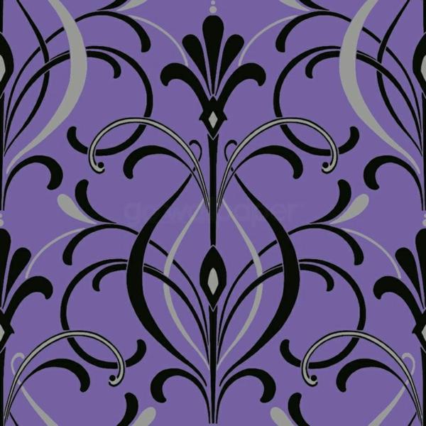 Purple And Black Damask Wallpaper Dekotapete Atemberaubende Farben Muster Und Motive
