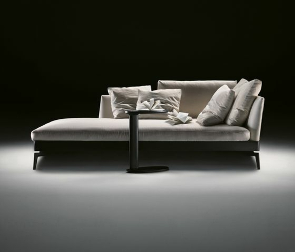 Ledersofa Grau Chaiselongue Sofa - Komfortable Lounge Möbel