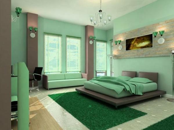 Farbideen Schlafzimmer - einflußreiche Farben und Dekoration - schlafzimmer wandgestaltung braun