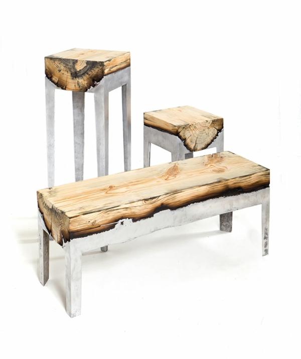 Esstisch Holz Metall Design Gallery Of Der Groe Tisch With - designer tische holz metall