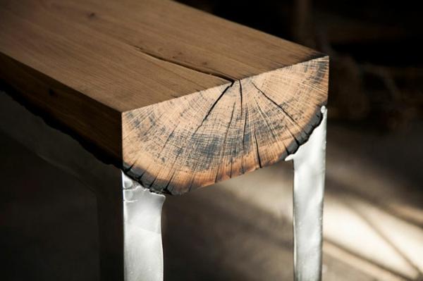 Design Möbel Stahl Rheumri   Designer Tisch Stahl Perfekter Balance
