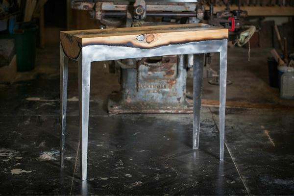 Designermöbel Holz Tisch Rheumri   Designermobel Nach Pierre Leron  Designertisch Aus Mandelbaum Holz