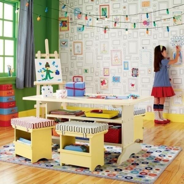 Kinderzimmer gestalten - kreative Ideen in Farbe - kreative wandgestaltung