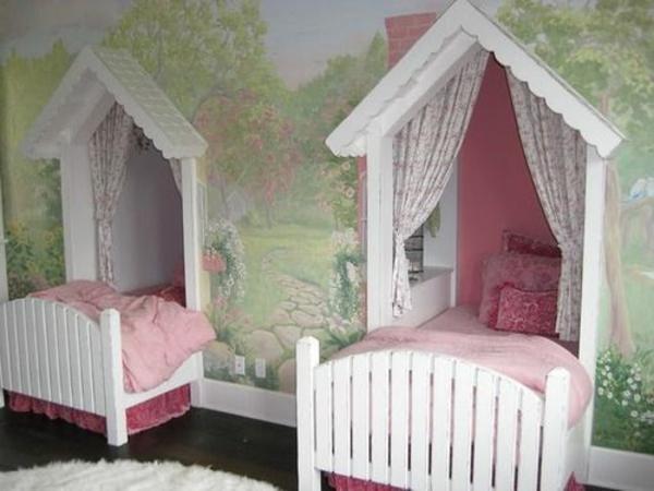 Kinderzimmer gestalten - Tolles Kinderzimmer für zwei Mädchen - kinderzimmer blau mdchen