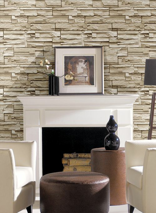 3d Effect Brick Stone Wallpaper Stein Tapeten Erschaffen Ein Komfortables Ambiente In