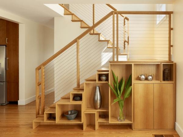 Moderne Treppen Benutzung Der Flache Unter Der Treppe