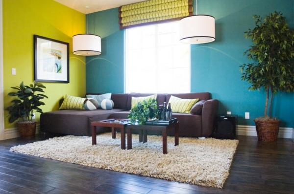 gruen tuerkis streichen - home design gemütliche innenarchitektur - wohnzimmer bilder grun