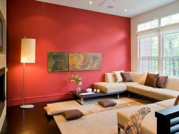 Wandfarben Wohnzimmer - welche Farbtöne kommen in die engere Wahl? - wohnzimmer farben fotos